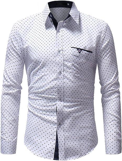 Glaiidy Camisa con Bolsillos para Estampado Festiva Polos ...
