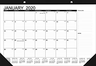 2020 Monthly Desk Pad Calendar, 11x17 Monthly Wall/Desk Calendar with Notes Section, Thick Paper for Organizing & Planning, 2020 Yearly Planner & Yearly Overview for Office,Home,Teacher,Student