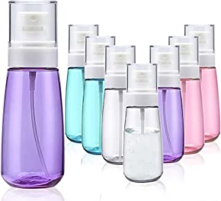 Fine Mist Spray Bottle 3.4oz/ 100ml Empty Cosmetic Refillable Travel Containers Plastic Hair Spray Bottle Sprayer for Perf...