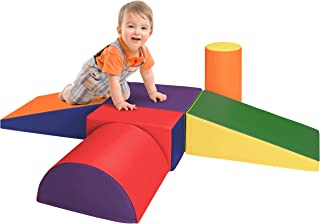 Dream Tree [Set of 6 Easy Care, Non-Toxic CPSIA Compliant Crawl and Climb Toys Soft Foam Blocks for Toddler, Baby, Kids, and Preschool