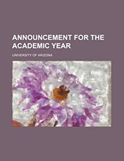 Announcement for the Academic Year