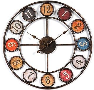 CT-Tribe Reloj de Pared Grande XXL 60 cm Reloj de Pared Silencioso Vintage Reloj Decoración Adorno para Hogar Salon Oficina