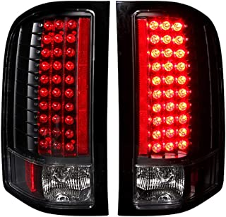 Anzo USA 311081 Chevrolet Silverado HD Black LED Tail Light Assembly - (Sold in Pairs)