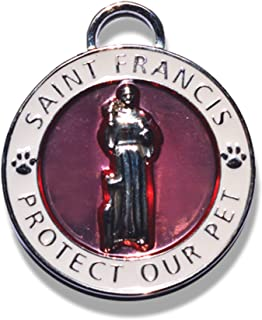 Luxepets Pet Collar Charm, Saint Francis of Assisi (Small)