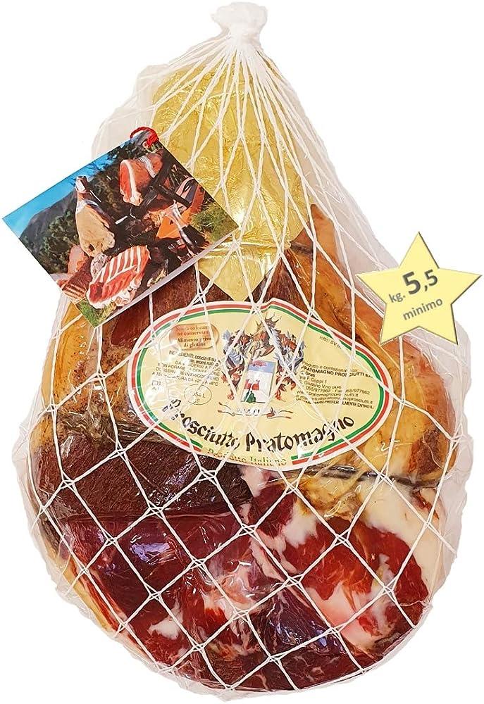 Prosciutto crudo extra stagionato 12 mesi 100% carne italiana con osso 5 5 kg