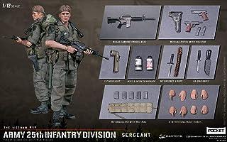 DAMTOYS1/12 ポケットエリートシリーズ 陸軍第25歩兵師団 SERGEANT 素体セット 武器付き コスプレ アクションフィギュア PES005