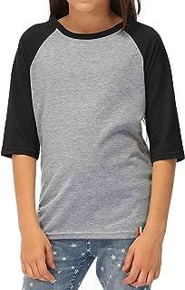 Kid's Unisex Baseball Jersey 3/4 Sleeve Tee Raglan T-Shirt 1-8 Years