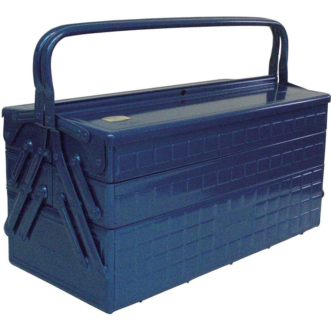 債権者魔術億TRUSCO(トラスコ) 3段式工具箱 472X220X343 ブルー GT-470-B