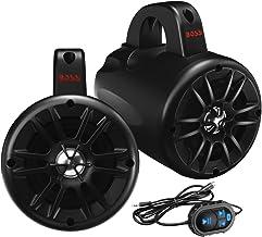 $181 » BOSS Audio Systems BM40AMPBT Marine Waketower Speaker System - Bluetooth, 500 Watts of Power Per Pair, 250 Watts Each, 4 Inch, Full Range, 2 Way, Marine Grade, Weatherproof, Sold in Pairs