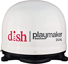 Winegard PL-8000 White Dish Playmaker HD Satellite Antenna Dual Receiver Capability, Optional RV Roof Mount