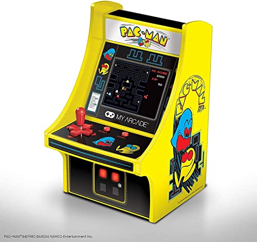 My Arcade Micro Player Mini Arcade Machine: Pac-Man Video Game, Fully Playable, 6.75 Inch Collectible, Color Display,...