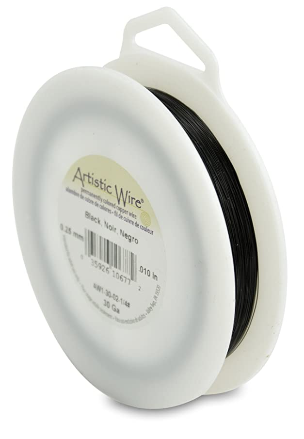 Artistic Wire 30-Gauge Black Wire, 1/4-Pound