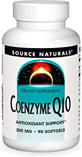 Source Natural Coenzyme Q10 Antioxidant Support 200 mg For Heart, Brain, Immunity, & Liver Support - 90 Softgels