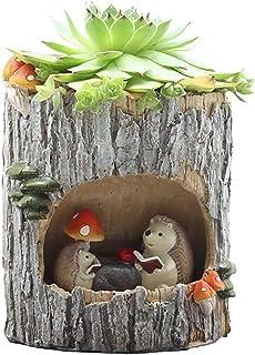 Little Nursery Rhyme Hedgehog Classroom Brown Bear Family Flowerpot(B1)