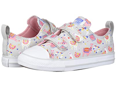 Converse Kids Chuck Taylor(r) All Star(r) Madison Llama Ox (Infant/Toddler) (Mouse/Coastal Pink/White) Girls Shoes