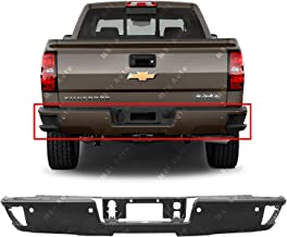 MBI AUTO - Primered, Steel Rear Bumper Face Bar for 2014-2019 Chevy Silverado & GMC Sierra W/Corner Step 14-19, GM1102563
