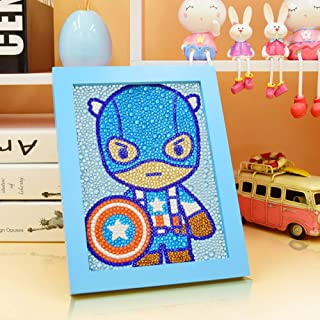 MYSNKU DIY Diamond Painting for Kids Full Drill Painting by Number Kits Arts Crafts Shimmer and Shine Sparkle Mosaics Stic...