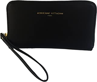 Charging Zip Around Wallet Wristlet - iPhone Android - Black Smooth