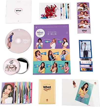 TWICE 5th Mini Album - WHAT IS LOVE ? [ B Ver. ] CD + Photobook + Photocards + Lyrics book + Postcard + Sticker + OFFICIAL SPECIAL SET + OFFICIAL POSTER + FREE GIFT / K-pop Sealed