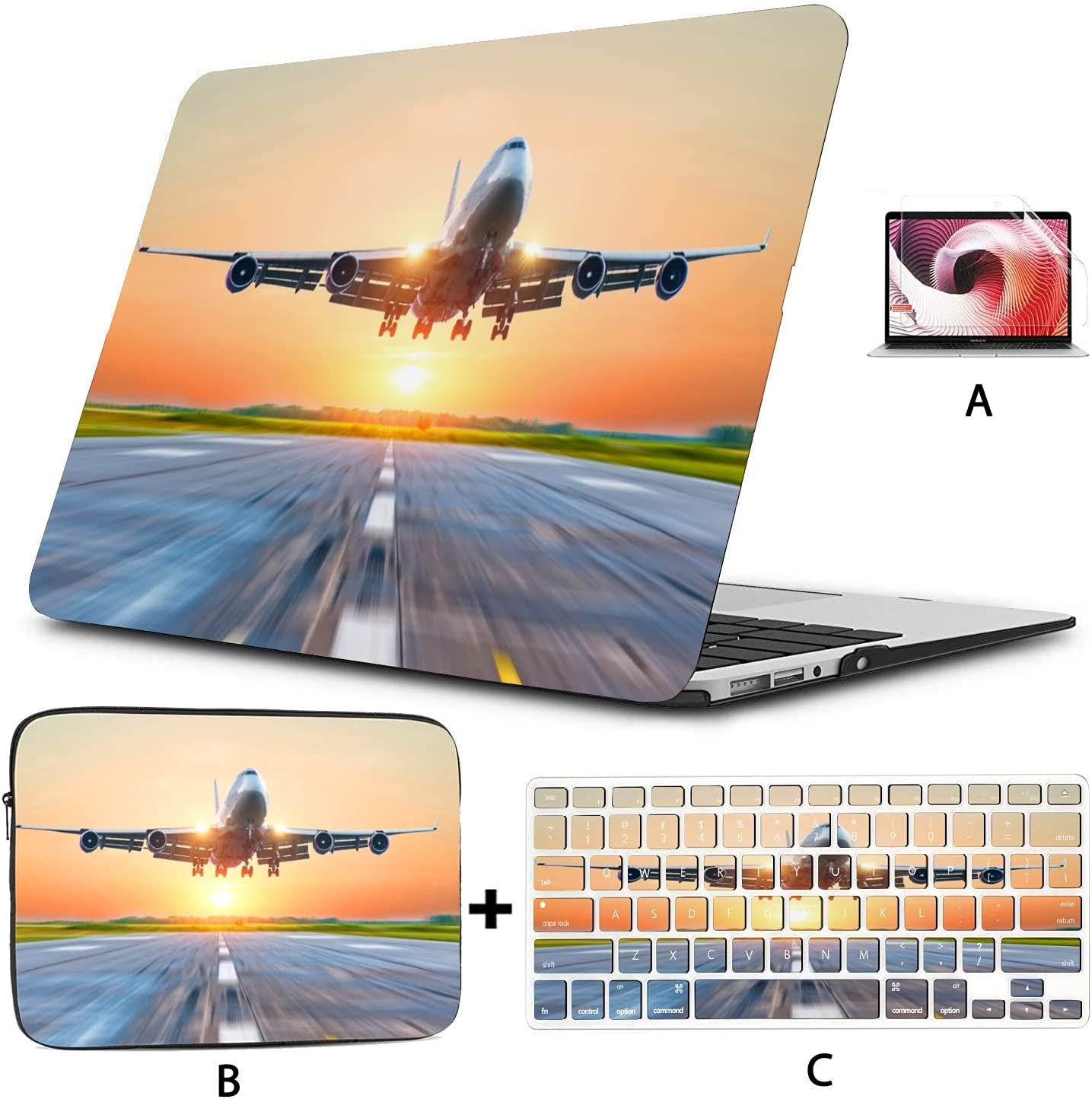 Hard Shell with Sleeve Bag for Case Luxury goods Airplane Retina MacBook Pro Max 43% OFF