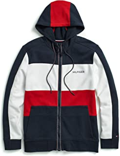 Tommy Hilfiger Men's Adaptive Hoodie Sweatshirt with Magnetic Zipper