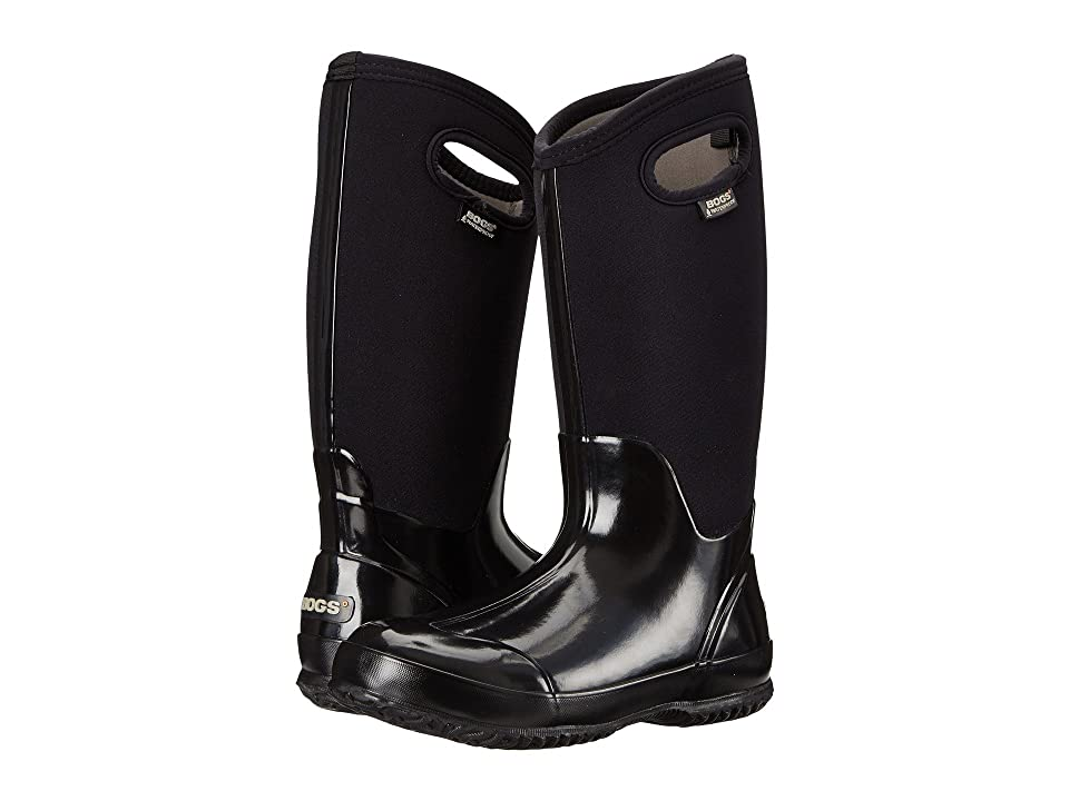 Bogs Classic High Handles (Black Shiney) Women
