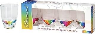 Merritt International Acrylic Drinkware Gift Sets Rainbow Diamond Tumbler 14-Ounce