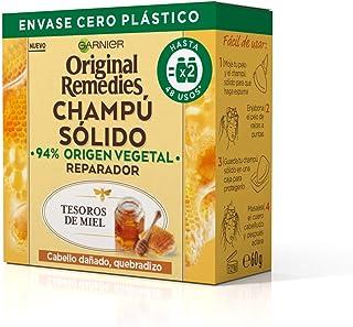 Garnier Original Remedies Champú Sólido - Tesoros De Miel Para Cabello Dañado, Quebradizo