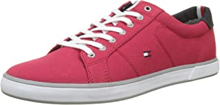 TOMMY HILFIGER Men's Lace-Up Sustainable Cotton Trainers Lace-Up Sustainable Cotton Trainers
