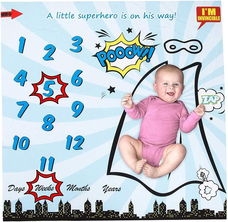 Best Xyc Baby Monthly Milestone Blanket Newborn Infant Baby Boy Girl Photography Background Blankets For Newborn Growth Photography New Moms Baby Shower Gifts