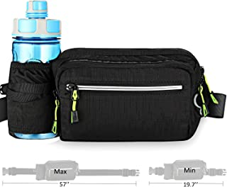 Aocharm Fanny Pack with Water Bottle Holder for Women Men Hiking Waist Bag Outdoors Travel Dog Walking Adjustable Large Waist Size fit for iPhone 8 Plus XS Max 6.5 inches