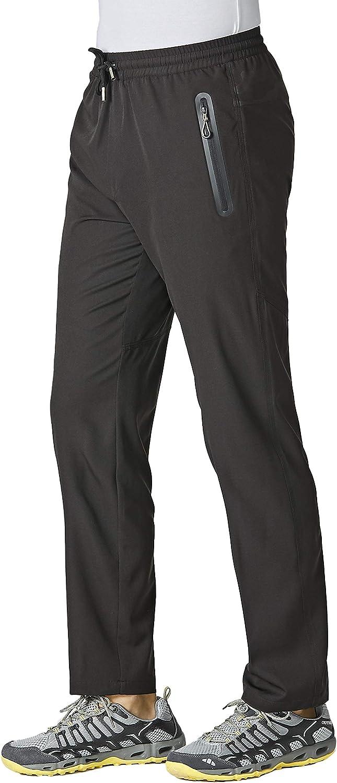 Cheap super special price MAGCOMSEN Men's Quick Dry Running Denver Mall Jogger Pocke Pants Zipper with
