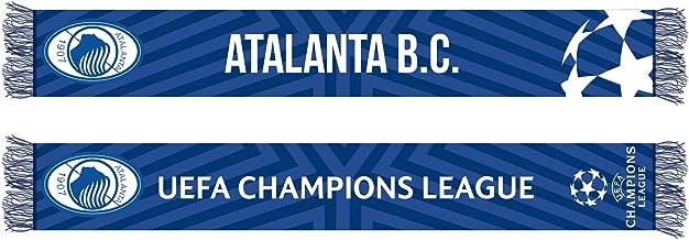 Atalanta BC 190614 sjaal Jaquard Champions League 2019/20 unisex volwassenen, zwart-lichtblauw, standaard
