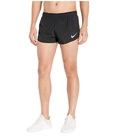 Nike 2 Lined Running Shorts (Black/Reflective Silver) Men