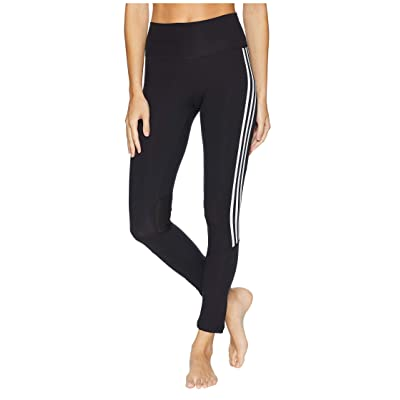 adidas Believe This High-Rise 3-Stripes 7/8 Tights (Black/White) Women