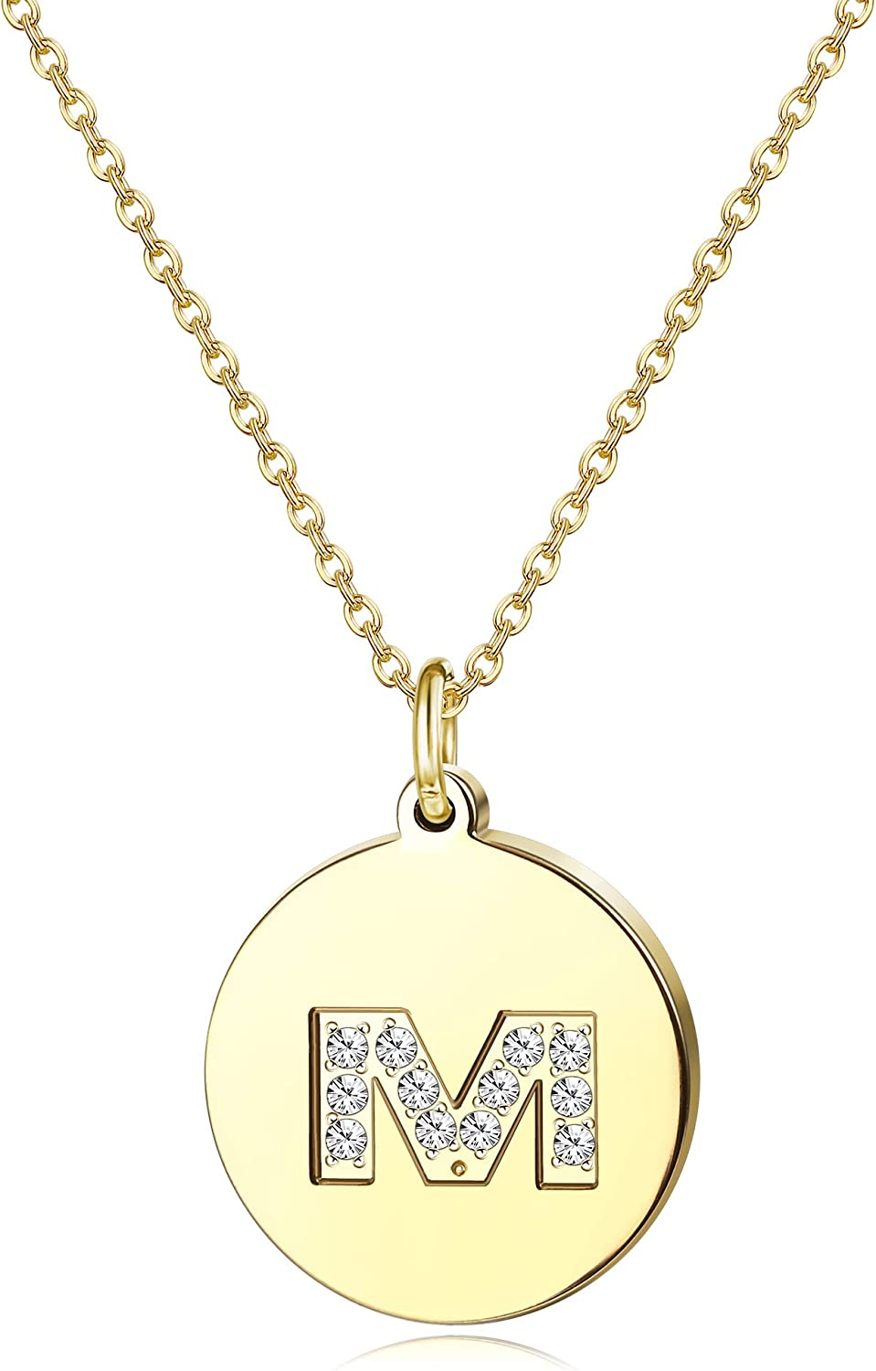 Jewenova Tiny Initial Letter Necklace for 2021new shipping free shipping Latest item Gold 18K P Girls Women