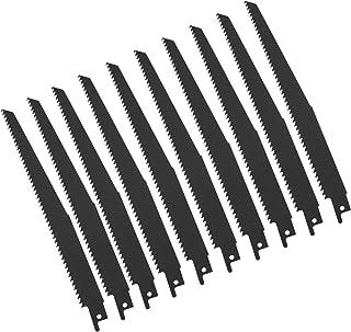 comprar comparacion OTOTEC - Juego de 10 hojas de sierra de sable de 8 pulgadas para corte de madera de plástico y metal, 6 TPI