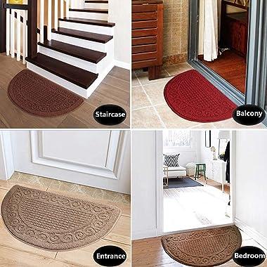 Soft Doormat Barrier Carpet Semicircle, Doormat Floor Mats are Machine Washable, Entrance Carpet, Indoor Entrance Passage Dus