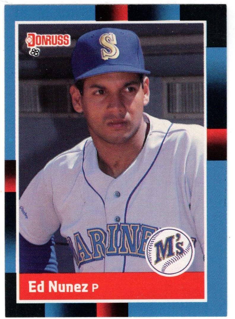 Ed Nunez - Seattle Mariners Baseball OFFicial site 445 Card N # Donruss Elegant 1988