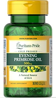 Puritan's Pride Evening Primrose Oil 500 mg with GLA-100 Softgels