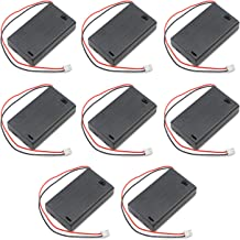 3 AAA Battery Holder Case Shell Box 1.5V with XH2.54 2PIN Female and Male Plug and ON/Off Switch for Science Projects DIY Circuit Components,Pack of 8