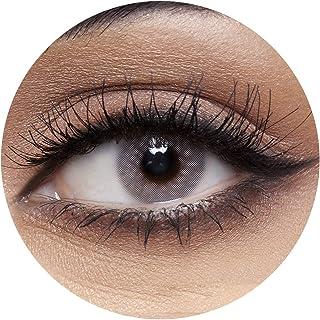 Anesthesia USA Vegas Grey Contact Lenses, Anesthesia Cosmetic Contact Lenses, 6 Months Disposable - USA Vegas Grey (Dark G...