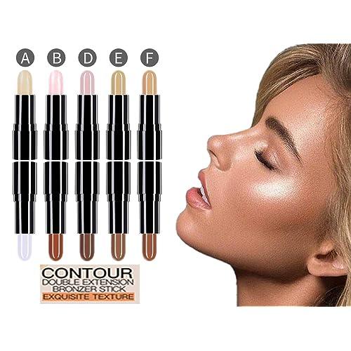 Cosmetics Cream Contour Concealer (a set of 5 Sticks) Highlighting Makeup Kit By Rejawece