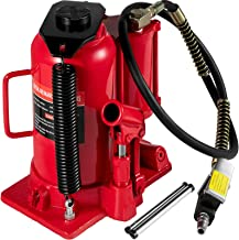 Mophorn Air Hydraulic Bottle Jack 20 Ton Bottle Jack Red Air Jack Heavy Duty Auto Truck Repair Lift