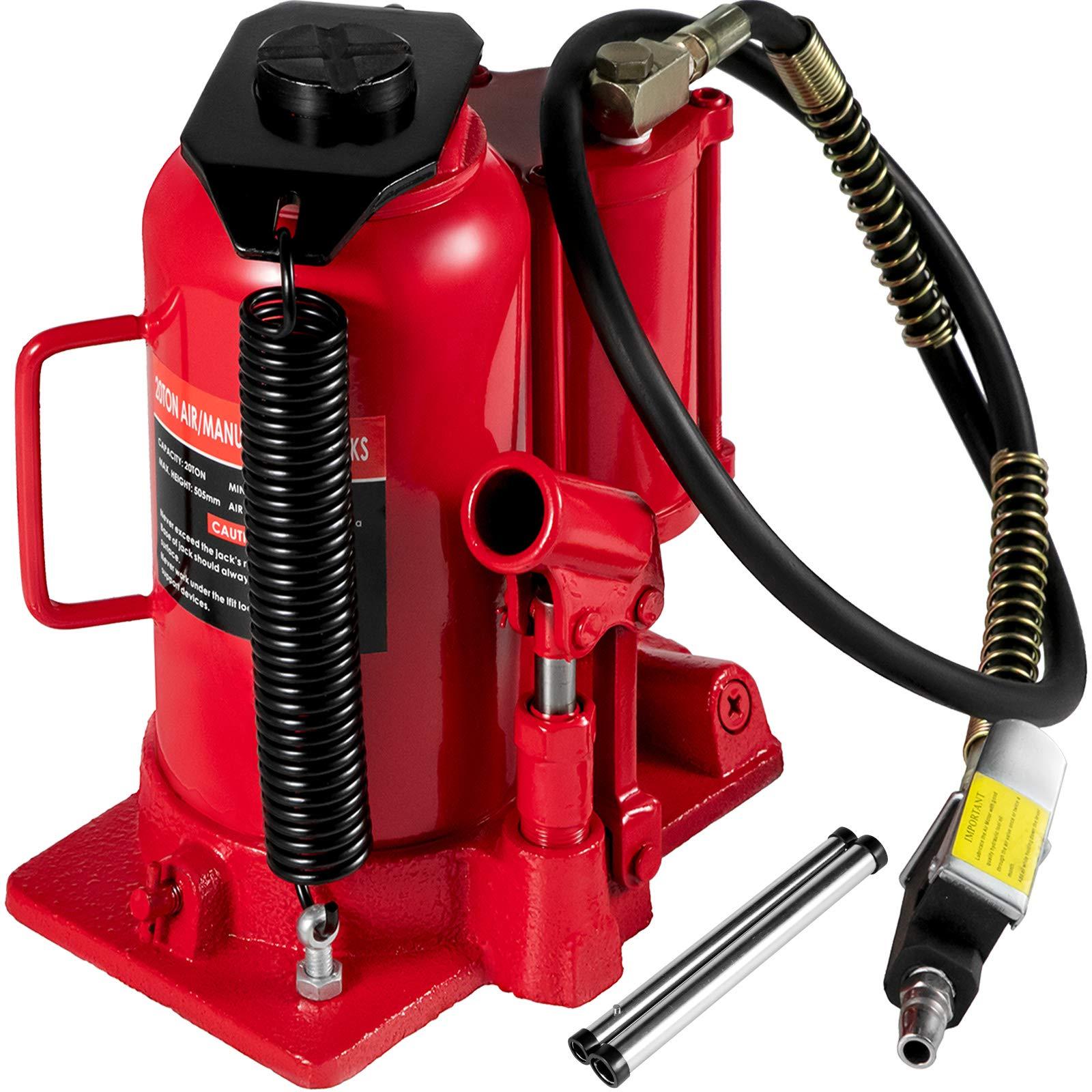 Mophorn Gato de Botella 20 T Gato Hidráulico de Coche Rojo Gato Hidraulico Carretilla para Reparación de Camiones Autos: Amazon.es: Coche y moto