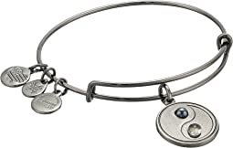 Two-Tone Yin Yang Bangle Bracelet