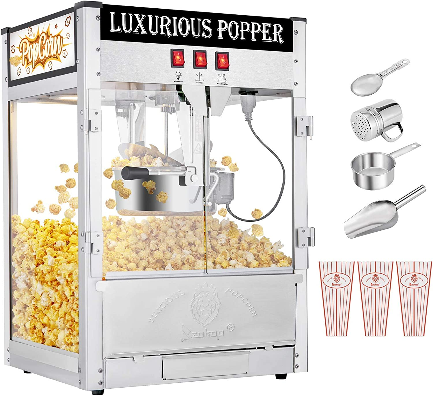Commercial Retro Popcorn Machine Cup OFFicial Portland Mall With Measuring Tablespoon