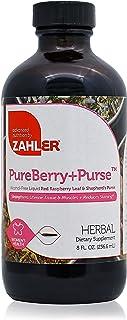 Zahler PureBerry+Purse, Liquid Raspberry Leaf & Sheperd's Purse, Strengthens Uterine Tissue, Certified Kosher, 8OZ