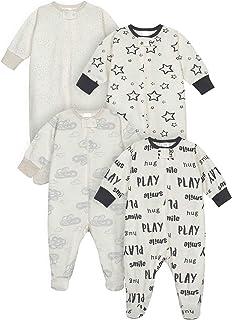 Onesies Brand Baby 4-Pack Sleep 'N Play Footies Multi Pack
