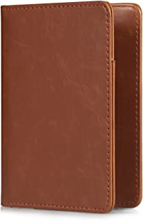 Passport Cover Holder Travel Wallet for Men & Women - Leather Passport Case- Securely Holds Passport, Business Cards, Credit Cards, Boarding Passes